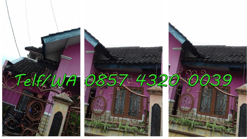 Rumah sebelum di renovasi dari berbagai sisi dengan rangka atap baja ringan
