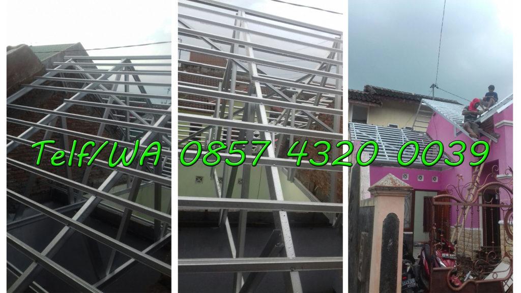 Proses Pemasangan baja ringan perum uns 5 palur dan gambar rancangan atap